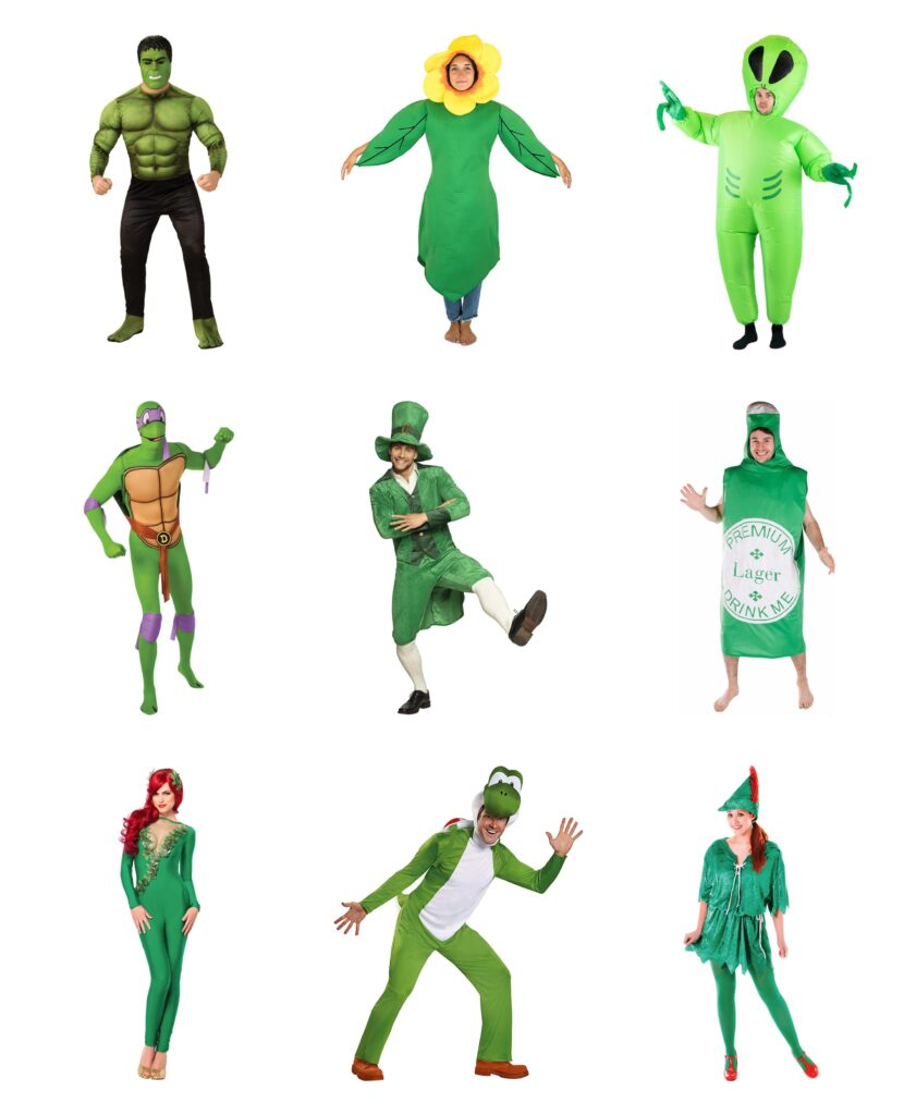grønne voksenkostumer 841x1024 - Grønne kostumer til voksne