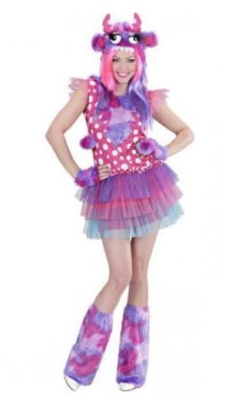 monster pige kostume sidste skoledag kostume til piger 9 kasse udklædning sidste skoledag lilla kostume kostume med benvarmere kostume med hat