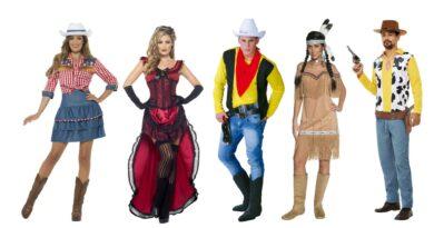 western kostume lucky luke kostume wild west udklædning indianer kostume cowgirl udklædning til voksne salonpige kostume