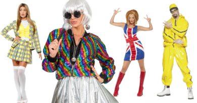 90er temafest 90er fest, 90´er kostumer, fest med 90´er tema, temafest, farverig temafest, 90er festartikler, 90er kostumer til voksne, 90er pynt, 90er festdekoration