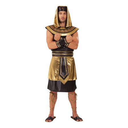 Egyptisk konge kostume guld udklædning til voksne 450x450 - Guld kostumer til voksne