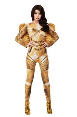 Fever guld skytsengel kostume til voksne 296x450 - Guld kostumer til voksne