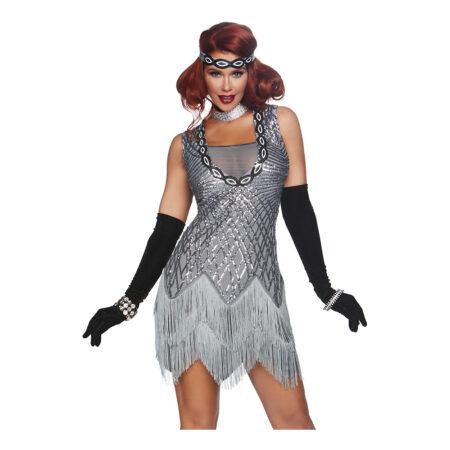 Gatsby sølv kjole 450x450 - Sølv kostumer til voksne
