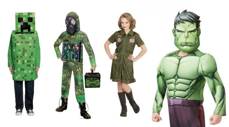 grønne kostumer til børn, grønne børnekostumer, grøn udklædning til børn, grønne fastelavnskostumer til piger, grønne fastelavnskostumer til drenge 2021, grønne kostumer til drenge, grønne kostumer til piger, grøn temafest