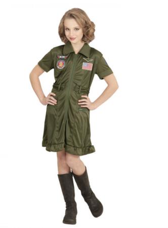 Jagerpilot Børnekostume 332x450 - Grønne kostumer til børn
