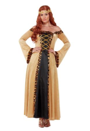 Middelalder guld kostume til kvinder 310x450 - Guld kostumer til voksne