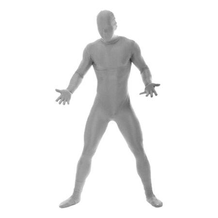 Morphsuit sølv kostume til voksne 450x450 - Sølv kostumer til voksne
