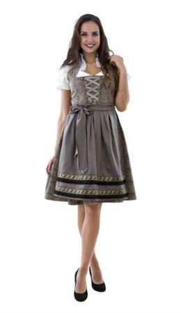Sølv Dirndl 260x450 - Sølv kostumer til voksne
