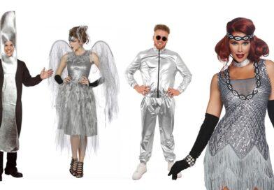 sølv kostumer til voksne, sølv udklædning til voksne, sølv temafest kostumer, sølv voksenkostumer, sølv fastelavnskostumer til voksne, sølv kostumer budget, sølv kostumer til mænd, sølv kostumer til kvinder