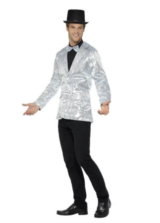 Showtime sølv palliet jakke 323x450 - Sølv kostumer til voksne