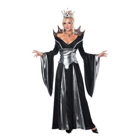 Sort sølv dronning kostume til voksne 450x450 - Sølv kostumer til voksne