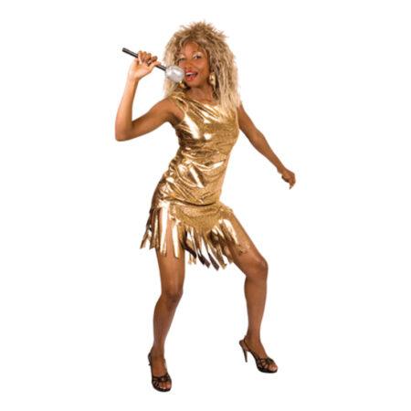 Tina turner guld kjole til voksne 450x450 - Guld kostumer til voksne