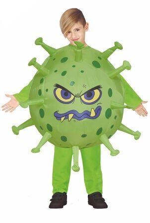 Virus kostume til børn corona børneudklædning 302x450 - Grønne kostumer til børn