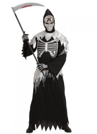 døden kostume til voksne sølv voksenkostumer 328x450 - Sølv kostumer til voksne