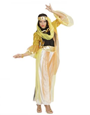 guld mavedanser kostume til voksne 354x450 - Guld kostumer til voksne
