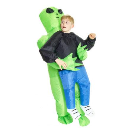 oppustelig alien børnekostume 450x450 - Grønne kostumer til børn