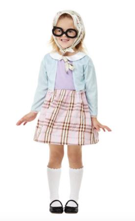 Gammel dame kostume til børn 276x450 - Bedstefar og bedstemor kostume til børn