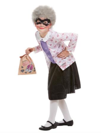 Gangster bedstemor kostume til børn 342x450 - Bedstefar og bedstemor kostume til børn