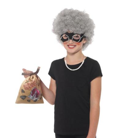 Lille Gangsta Granny Sæt 427x450 - Bedstefar og bedstemor kostume til børn