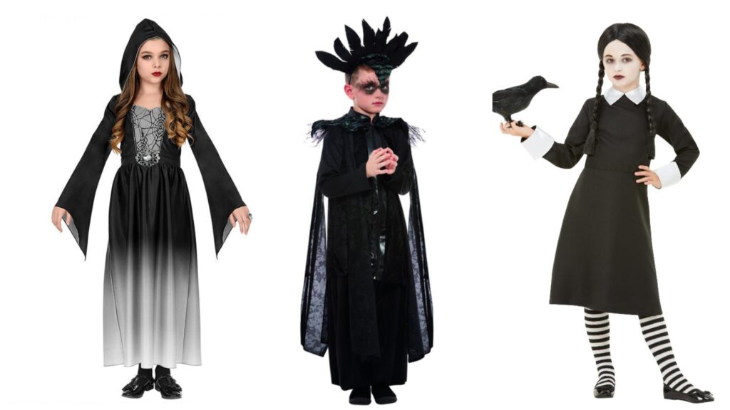 Gotiske kostumer til børn sorte kostumer til børn 1024x576 - Halloween kostumer til børn 2021 - drenge og piger