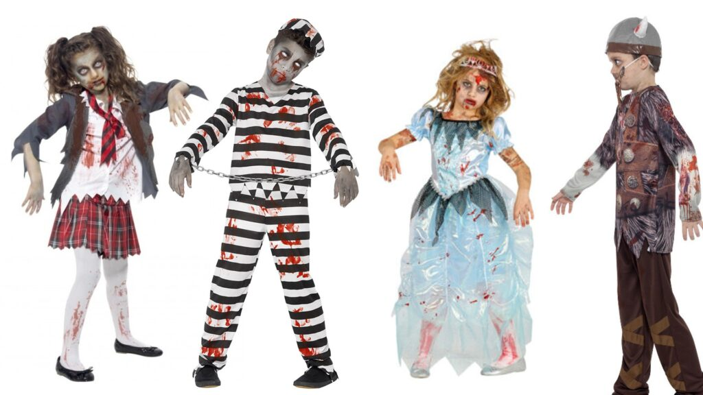 Zombie kostumer til børn uhyggelige kostumer til børn 1024x576 - Halloween kostumer til børn 2021 - drenge og piger