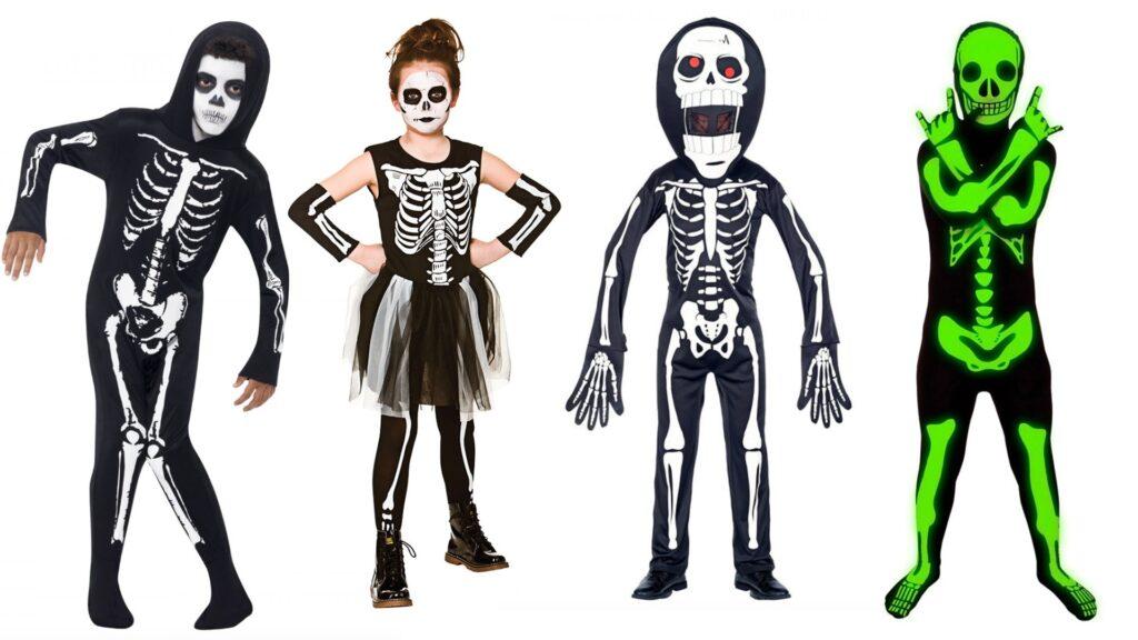 skelet kostumer til børn skelet børnekostumer 1024x576 - Halloween kostumer til børn 2021 - drenge og piger