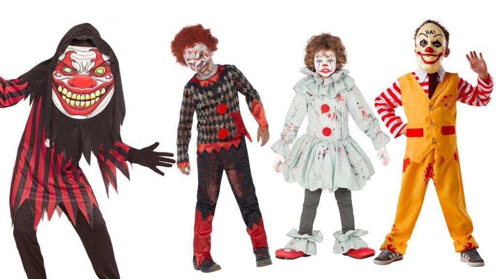 uhyggeligt klovne kostumet til børn halloween kostumer til børn 1024x576 - Halloween kostumer til børn 2021 - drenge og piger